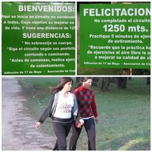 Gracias al blog de la profesora Mirian Aladio, nos enteramos de  cambios en el parque Artigas del Sauce
